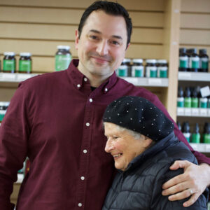 Neal and Elderly Lady Customer